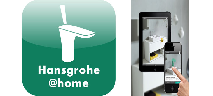 The Hansgrohe@home app makes bathroom and kitchen design easier