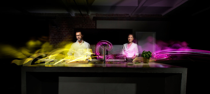 Hansgrohe Light art project with Quique Dacosta and Sybille Schönberger