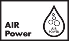 AirPower: Water, cleverly infused with air, forms voluminous droplets, turning showering into a pleasant rain shower experience.