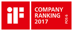 In 2017, the Hansgrohe Group is among the ten best companies in the world in the field of design. and ranks sixth