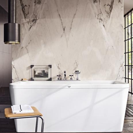 Bathroom With Axor Citterio Bath Tub.