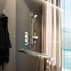 Shower with Axor Citterio E shower set.