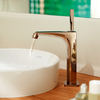 AXOR Citterio E basin mixer in red gold.