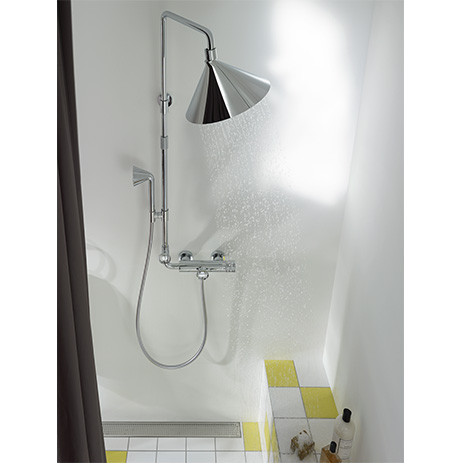 Axor Showerpipe With Showerhead And Handshower.