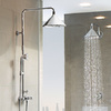 Axor ShowerProducts designed by Front are available for both exposed and concealed installation.