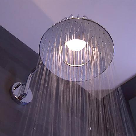 wohnlichkeit im bad led dusche beleuchtung hansgrohe de. Black Bedroom Furniture Sets. Home Design Ideas