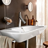 Axor Starck Organic two handle basin mixer on the Silk wash basin from Keramag.