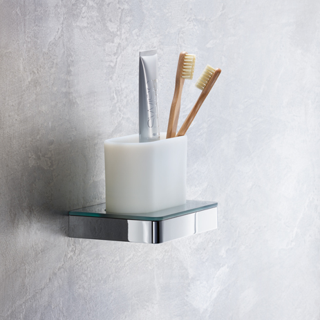 Toothbrush Tumbler And Holder. Wall Mounting. To The Bathroom Accessories  ...