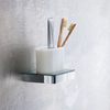 Tooth brush tumbler and holder. Wall mounting.