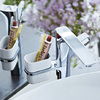 AXOR Urquiola basin mixer with holder.