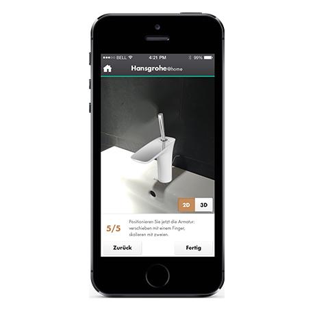 Schritt Hansgrohe@home App ...