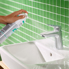 hansgrohe foam limescale remover: spray the mixer.