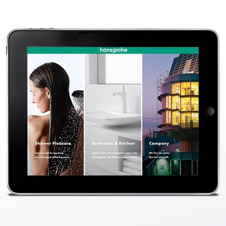 Interactive catalogue, virtual bathroom showroom | Hansgrohe AU / NZ