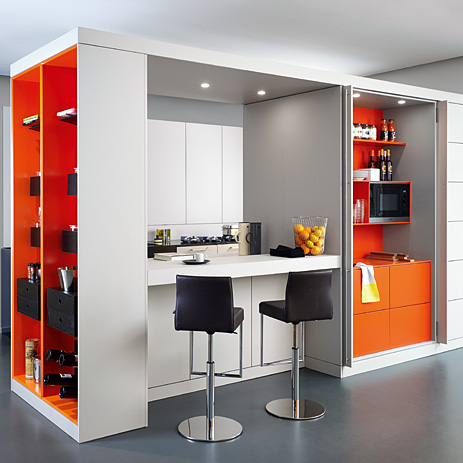 Warendorf Kitchen Island Functions As A Room Divider.