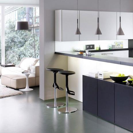 trend offene k che verbindet kochen und wohnen hansgrohe at. Black Bedroom Furniture Sets. Home Design Ideas