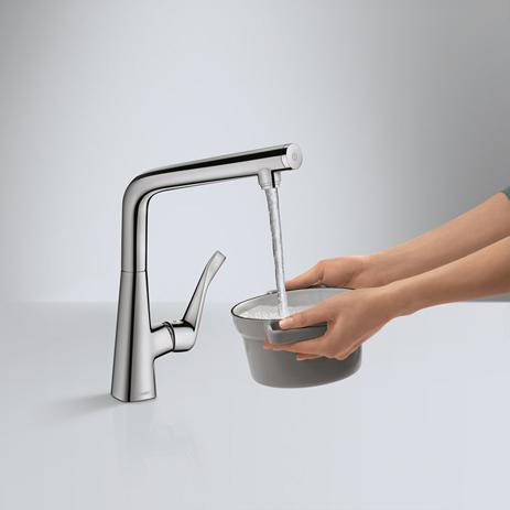 Innovativ Metris Armaturen für die Küche - mit Ausziehbrause | Hansgrohe DE EP14