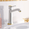 Single lever basin mixer.