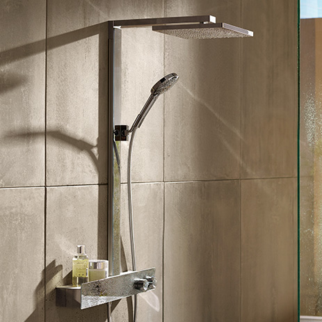 duschsysteme showerpipes duschpaneele hansgrohe at. Black Bedroom Furniture Sets. Home Design Ideas