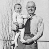 The family business is growing: company founder Hans Grohe with his son Klaus (*1937) on his arm (photo: 1938).