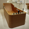 Plywood bathtub. As seen at Palazzani at ISH 2011.