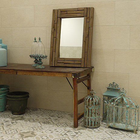 wooden vanity and antique lamps - Bathroom Accessories Decor