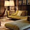 Soft green shades, such as the reed colors on these sofas from Flexform, as seen at the Milan Furniture Fair 2012.