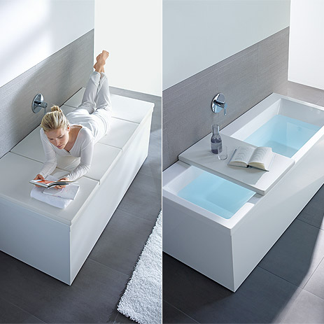 A Perfectly Fitted Shelf On The Bathtub Photo Duravit Offers Place For