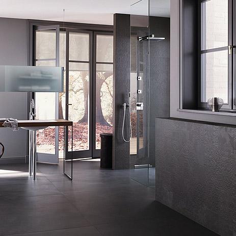 dusche mit bodenebenem einstieg - bad-trend von | hansgrohe de, Hause ideen