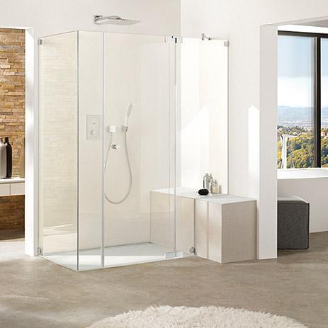 dusche mit bodenebenem einstieg - bad-trend von | hansgrohe de