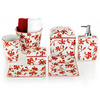 Porcelain accessories with red floral patterns from Decor Walther (Photo: © Decor Walther).