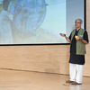 Anupam Mishra from the Gandhi Peace Foundation during his talk.