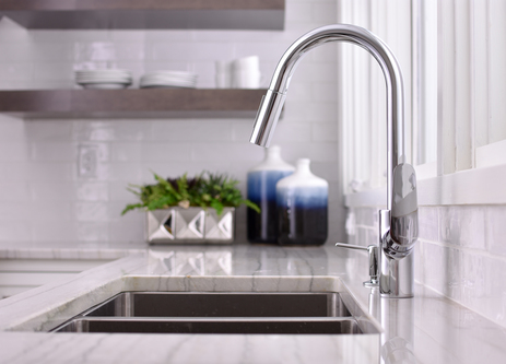 Focus 2-Spray HighArc Kitchen Faucet, Pull-Down
