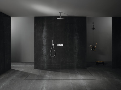 E360 Air 1jet overhead shower with 100mm ceiling connector