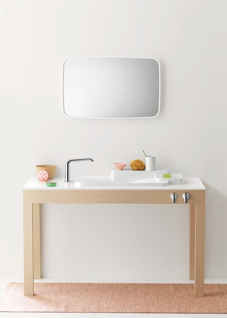 Axor Bouroullec Drop-In Washbasin with Two Shelves, Large