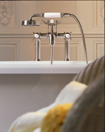 Axor Montreux Rim-Mounted Tub Filler with Cross Handles