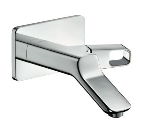 Single lever basin mixer, wall-mounted