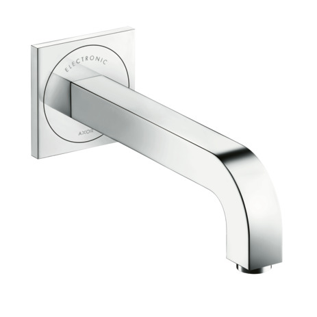 Electronic basin mixer for concealed installation wall-mounted with spout 221 mm