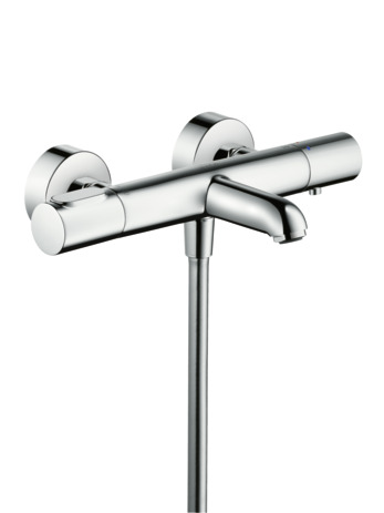 Thermostatic bath mixer for exposed installation
