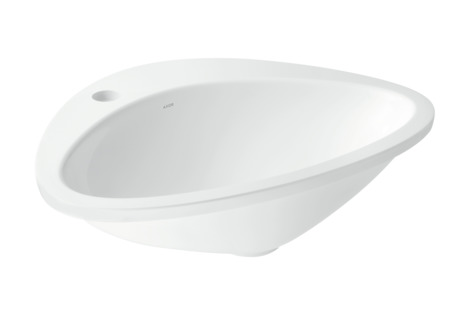 Built-in wash basin with 1-boreholing