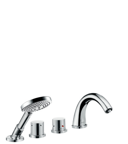 4-hole tile mounted thermostatic bath mixer