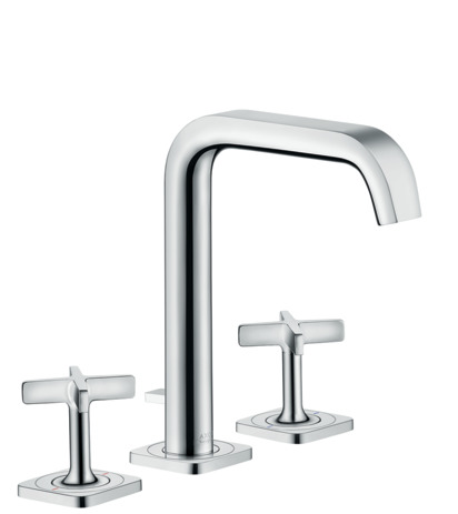3-hole basin mixer 170 with pop-up waste set and escutcheons