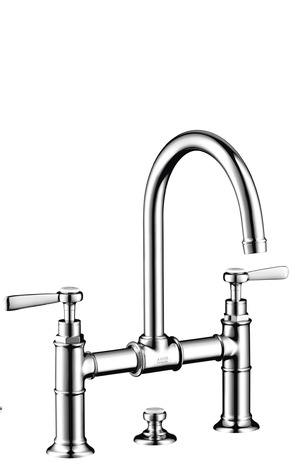 2-handle basin mixer 220 with pop-up waste and lever handles
