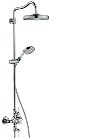 Showerpipe with thermostatic mixer and overhead shower 240 1jet Classic