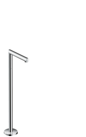 Floor standing bath spout straight