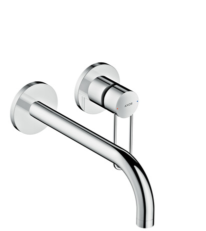 Single lever basin mixer for concealed installation loop handle wall-mounted 225