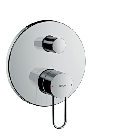 Single lever bath mixer for concealed installation loop handle with integrated security combination according to EN1717
