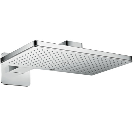 Overhead shower 460/300 1jet with shower arm and softcube escutcheon
