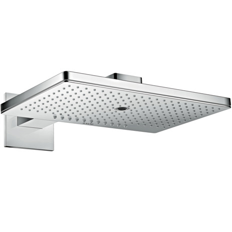 Overhead shower 460/300 3jet with shower arm and square escutcheon