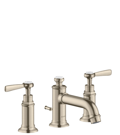 3-hole basin mixer 30 with pop-up waste and lever handles