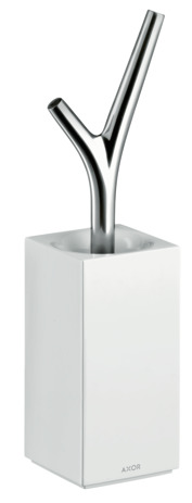 Metal toilet brush holder